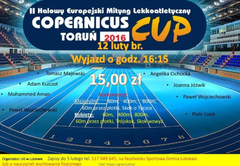 II HALOWY EUROPEJSKI MITYNG LEKKOATLETYCZNY COPERNICUS CUP TORUŃ 2016