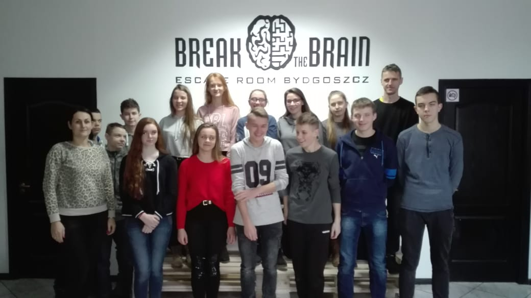 """Escape room """"Break the Brain"""" – sprawozdanie z wyprawy klasy III a"""