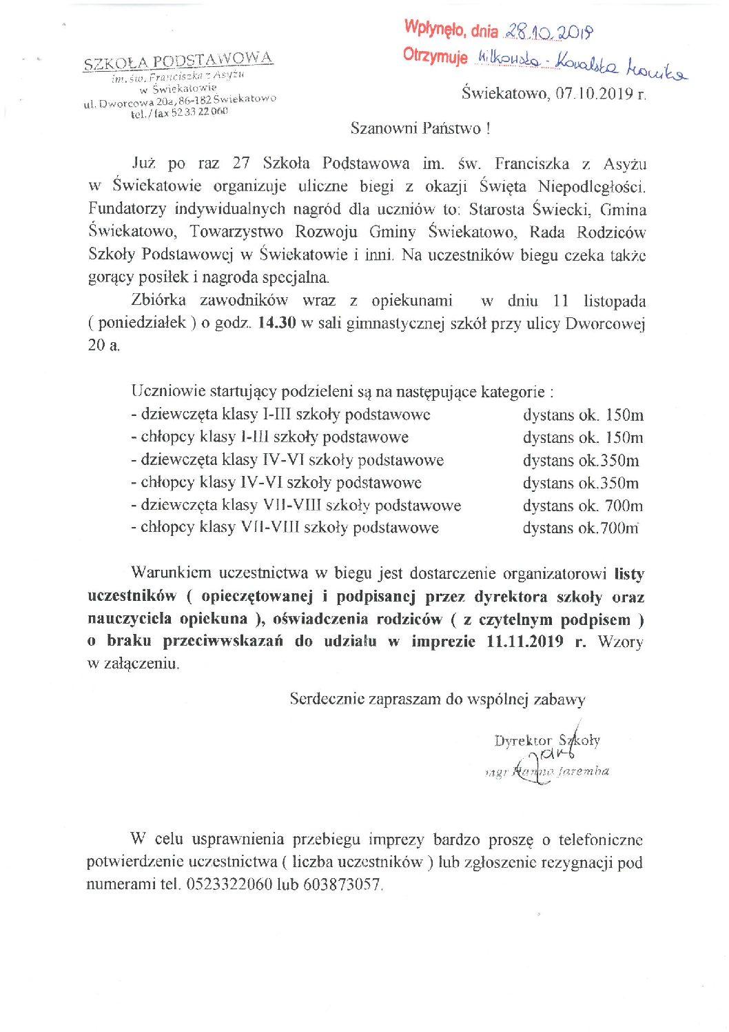 Szkoła Podstawowa w Świekatowie organizuje zawody – zachęcamy do udziału