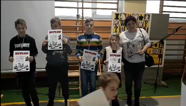 Szachowi wicemistrzowie Powiatu.